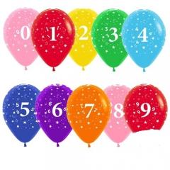 Шар с цифрами 12
