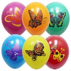 Бабочки 3-х цветные