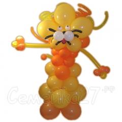 Лев с туловищем из круглых шаров