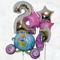 Цифра в ассортименте (Серебро, Синий, Ярко-розовый)