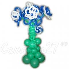 Композиция из шаров Большая ваза с цветами 1