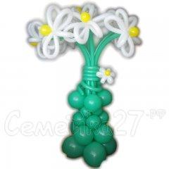 Композиция из шаров Большая ваза с цветами 2