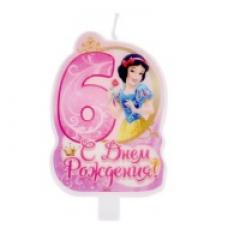 Свеча тортовые цифры с принцессами