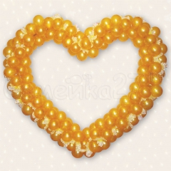 Сердце из маленьких шариков