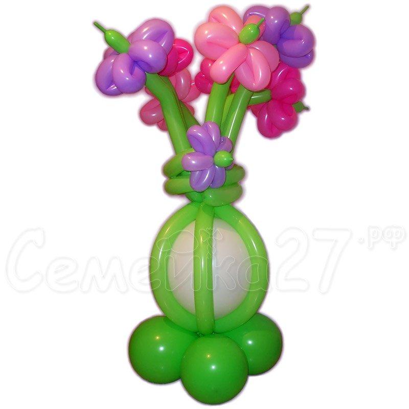 Цветы в вазе из шаров своими руками 10