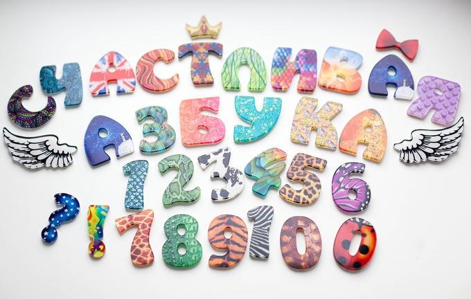 Буквы с узорами трафарет