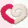 Сердце вензель 2 цвета